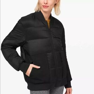 Lululemon Roam Far Wool Bomber jacket reversible 8